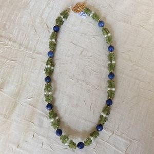 Péridot Sodalite Perles de culture  | 65 €