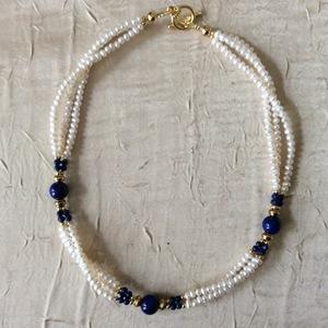 Perles de culture Lapis lazuli   60 €