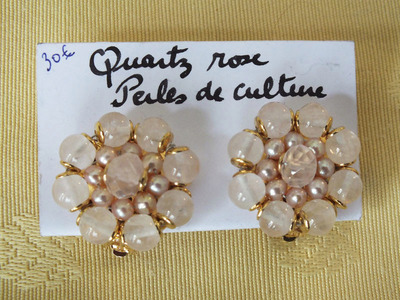 Quartz rose, Perles de culture | 30 €